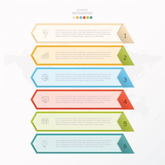 Basiskleuren vak infographic.