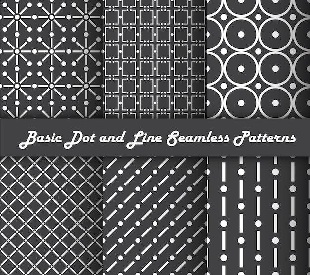 Basispunt- en lijn-naadloze patronen
