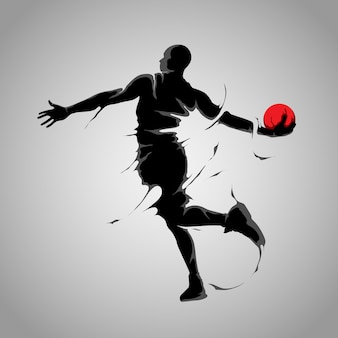 Basket shot splash silhouet