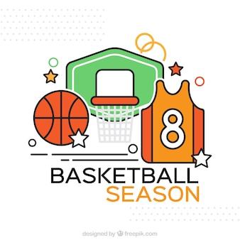 Basketbal accessoires achtergrond