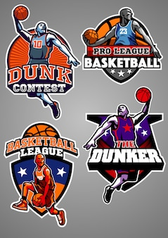 Basketbal badge collectie
