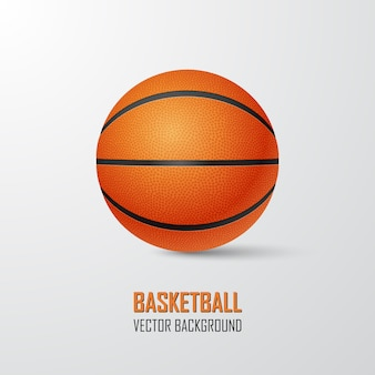 Basketbal bal achtergrond