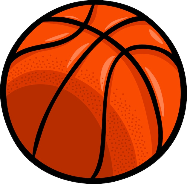 Basketbal bal cartoon illustraties