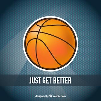 Basketbal bal stickerachtergrond