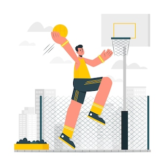 Basketbal concept illustratie