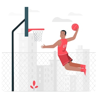 Basketbal concept illustratie