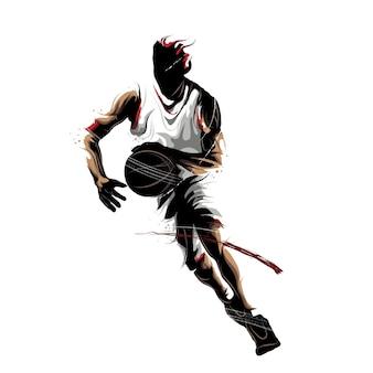 Basketbal dribbelende bal
