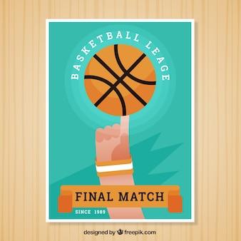 Basketbal flyer in plat design