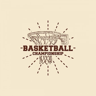 Basketbal hand getrokken logo