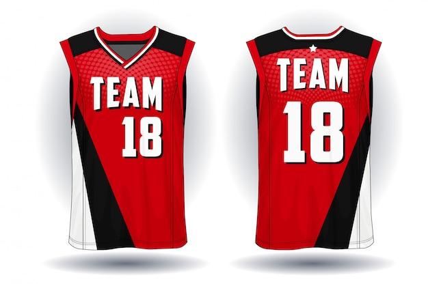 Basketbal jersey, de illustratie van de tanktopsport.