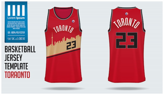 Basketbal jersey mockup sjabloon