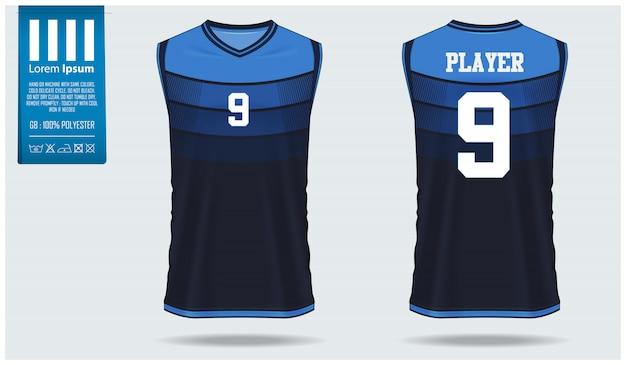 Basketbal jersey mockup sjabloonontwerp