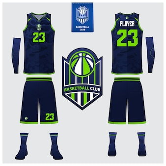 Basketbal jersey sjabloonontwerp