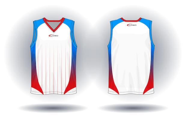 Basketbal jersey tank top sport illustratie