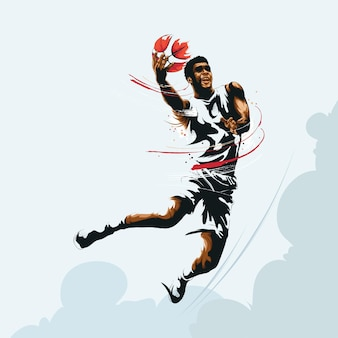 Basketbal jump shot afbeelding