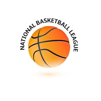 Basketbal kampioenschap logo ontwerp.
