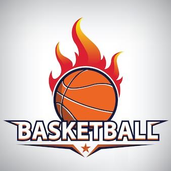 Basketbal kampioenschap logo