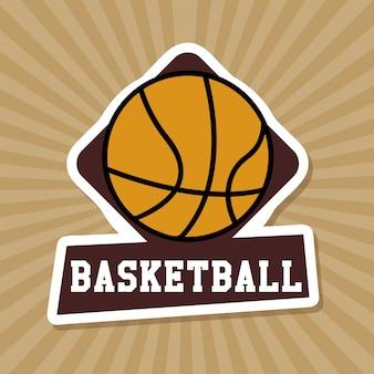 Basketbal label over grunge achtergrond
