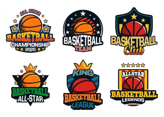 Basketbal logo collectie