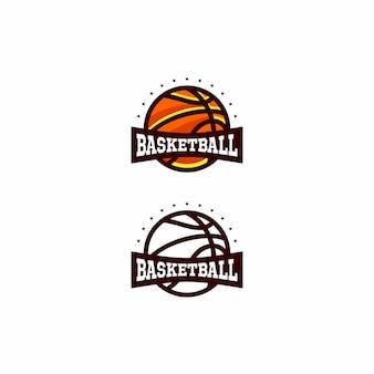 Basketbal logo ontwerp