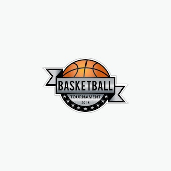 Basketbal logo sjabloon