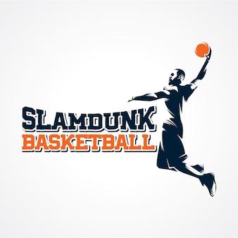 Basketbal logo vector, premium silhouet vector