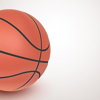 Basketbal met copyspace