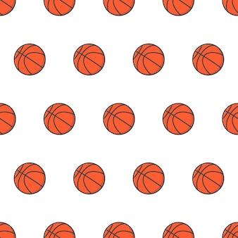 Basketbal naadloze patroon. basketbal thema illustratie