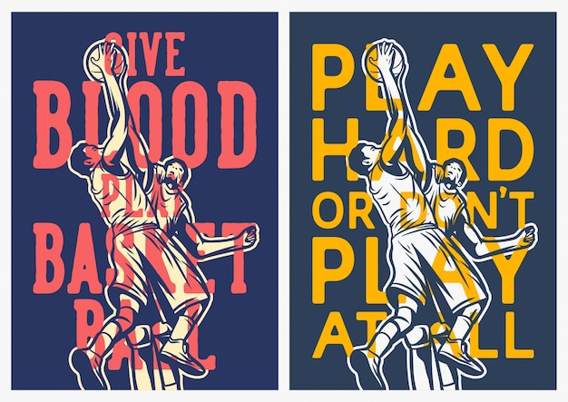 Basketbal offerte poster collectie