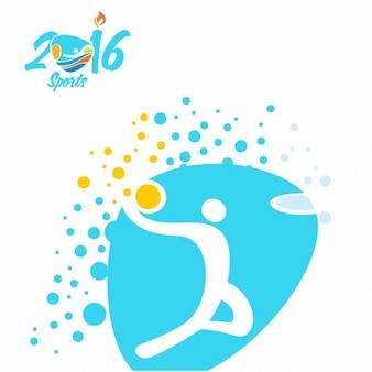 Basketbal olympische spelen rio icon