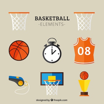 Basketbal pictogrammen