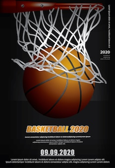 Basketbal poster reclame illustratie