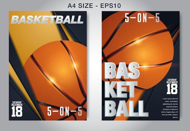 Basketbal poster vector.