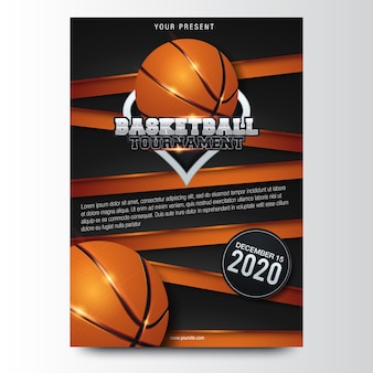 Basketbal posterontwerp. vector illustratie