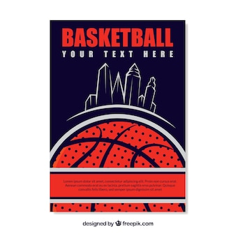 Basketbal retro brochure