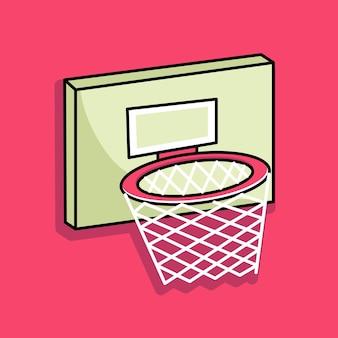 Basketbal ring cartoon ontwerp