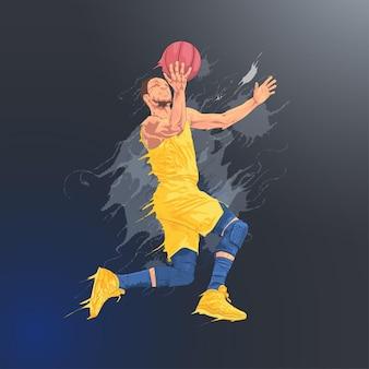 Basketbal schot sprong vervorming