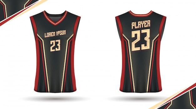 Basketbal shirt ontwerp