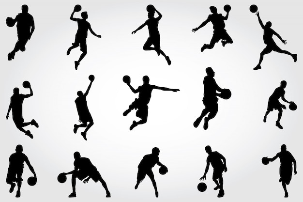 Basketbal silhouetten