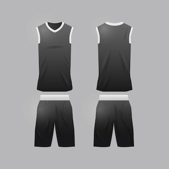 Basketbal sjabloon van jersey