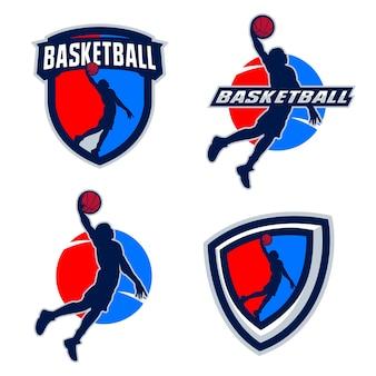 Basketbal speler silhouetten