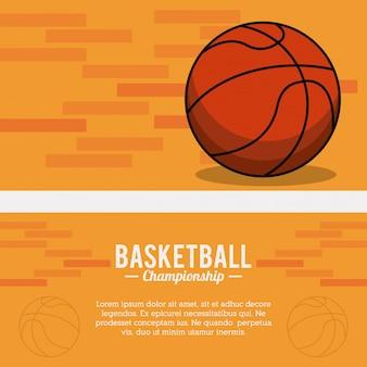 Basketbal sport bal kampioenschap poster
