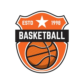 Basketbal sport emblemen illustratie