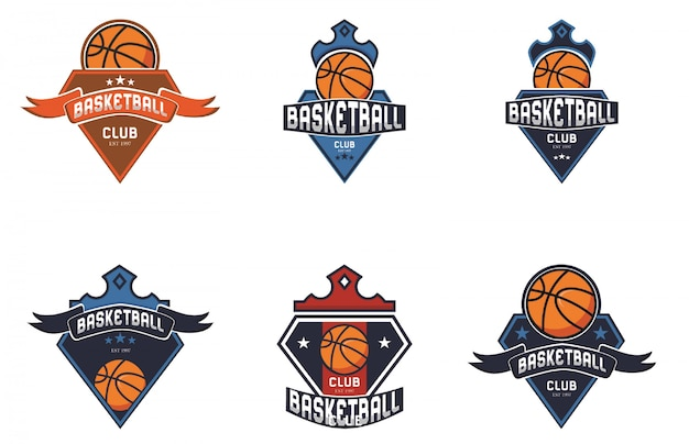 Basketbal sport logo collectie
