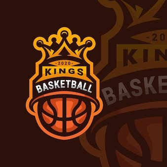 Basketbal sport logo ontwerp