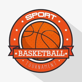 Basketbal sport logo