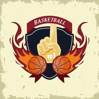 Basketbal sport spel kaart