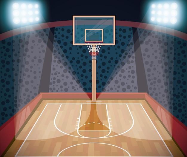 Basketbal sport spel landschap cartoon