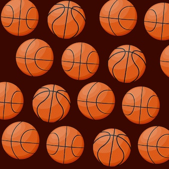 Basketbal sport spel patroon