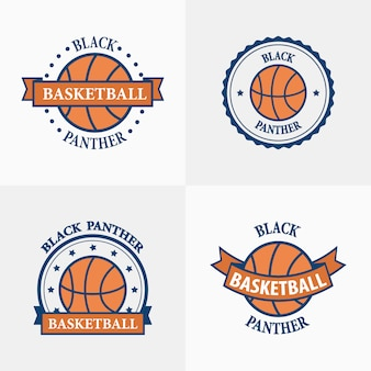 Basketbal sport team emblemen